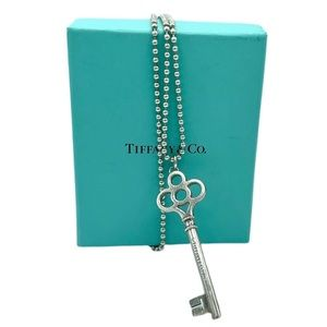 Tiffany and Co Large Crown Key Pendant